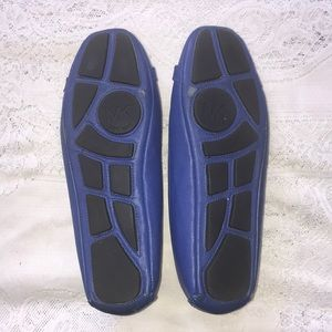 Michael Kors Shoes - Michael Kors Blue Leather Flats